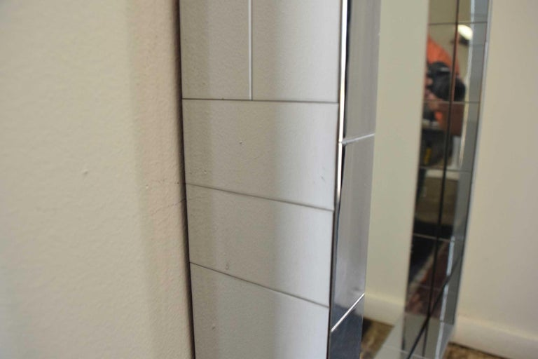 Paul Evans Cityscape Mirror in Chrome, Signed For Sale 1