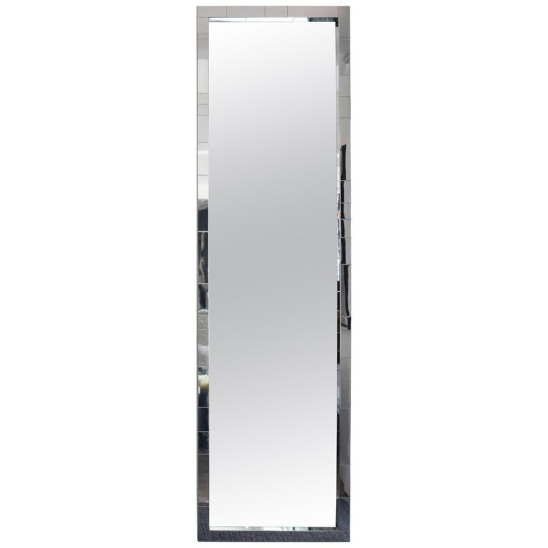 Paul Evans Cityscape Mirror in Chrome, Signed For Sale