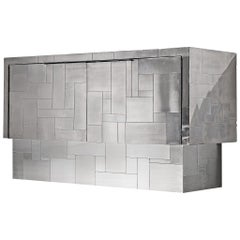 "Paul Evans ""Cityscape"" Sideboard in Chrome"