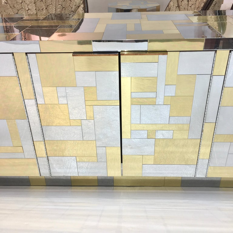 Paul Evans Cityscape Six Door Credenza In Good Condition For Sale In Hingham, MA