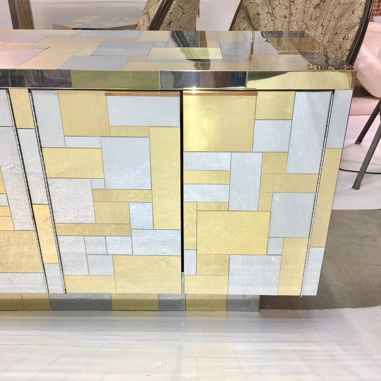 Late 20th Century Paul Evans Cityscape Six Door Credenza For Sale