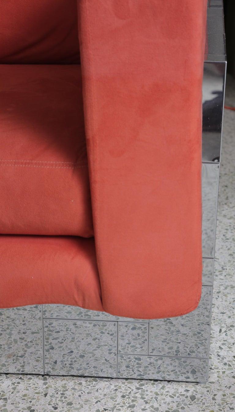Chrome Paul Evans Cityscape Sofa/Settee For Sale