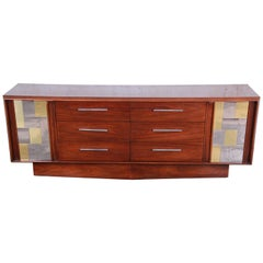 Paul Evans Cityscape Style Mid-Century Modern Long Dresser or Credenza by Lane