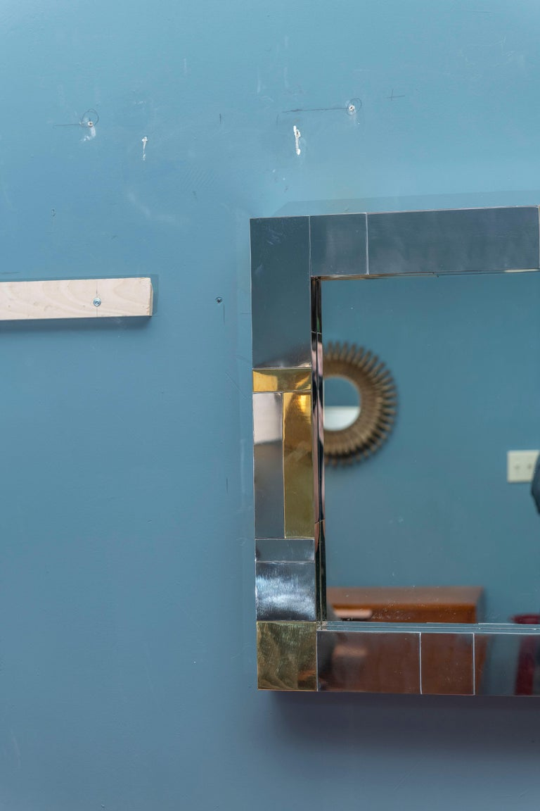 Mid-Century Modern Paul Evans Cityscape Wall Mirror For Sale