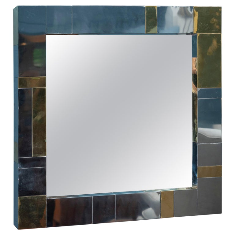 Paul Evans Cityscape Wall Mirror For Sale