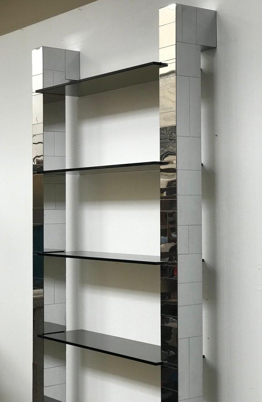 American Paul Evans Cityscape Wall Shelves Display Etagere Bookshelf for Directional For Sale