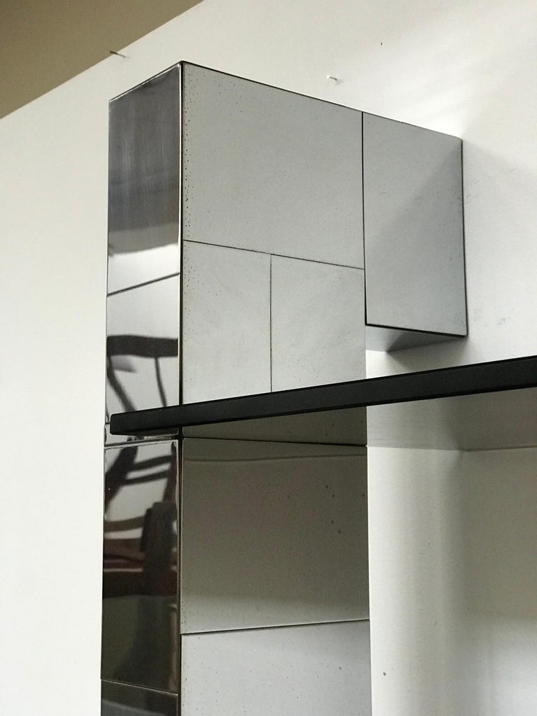 Plated Paul Evans Cityscape Wall Shelves Display Etagere Bookshelf for Directional For Sale