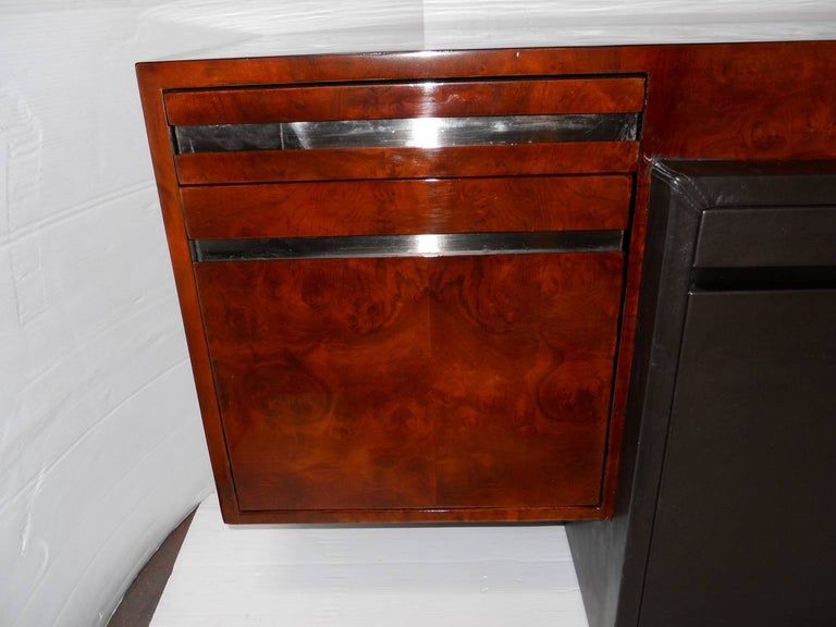 Steel Paul Evans Credenza for Directional For Sale