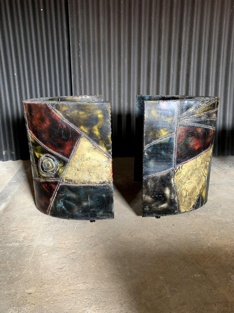 I adore these bases and am amazed at the craftsmanship it took to create them. Each one is in wonderful condition with normal wear as expected with these pieces. I cannot locate a signature. Please see all photos. There is one area that has more