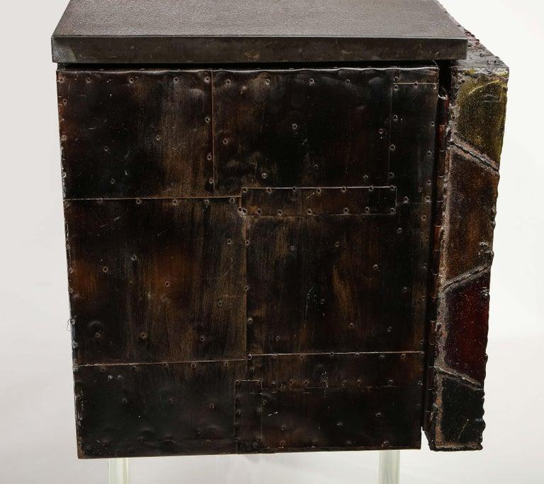 Paul Evans Deep Relief Cabinet Designed in Metal For Sale 4