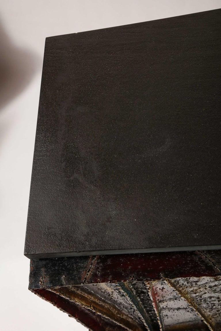 Paul Evans Deep Relief Cabinet Designed in Metal For Sale 1
