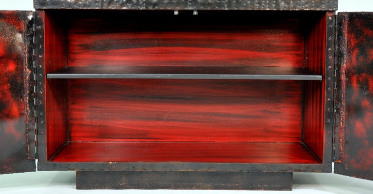 Paul Evans Deep Relief Cabinet For Sale 5