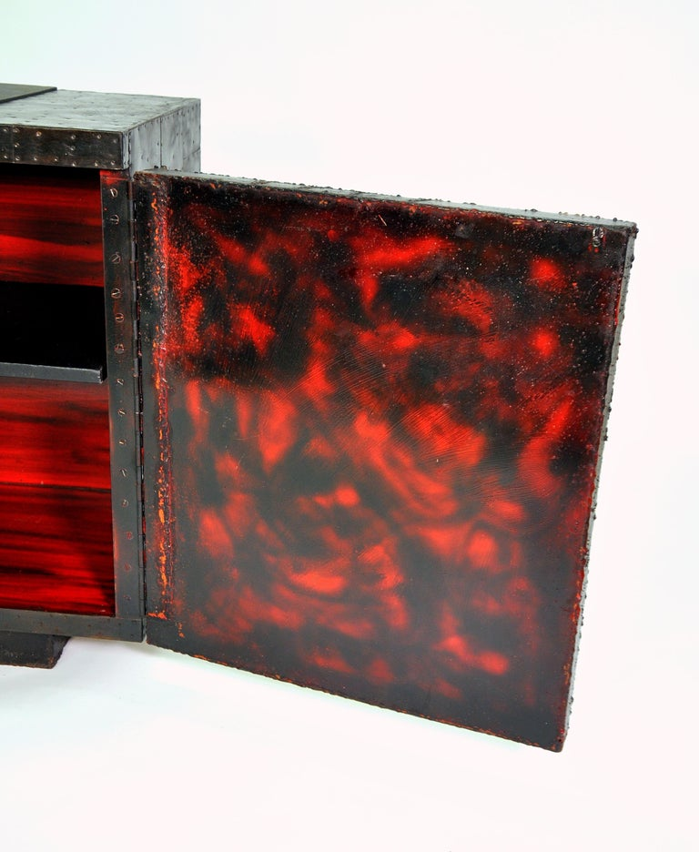 Paul Evans Deep Relief Cabinet For Sale 6