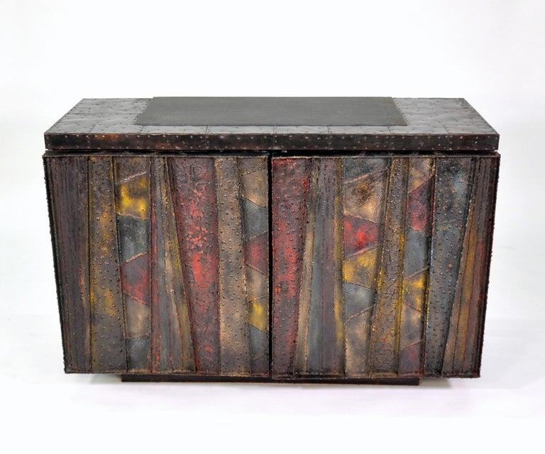 American Paul Evans Deep Relief Cabinet For Sale