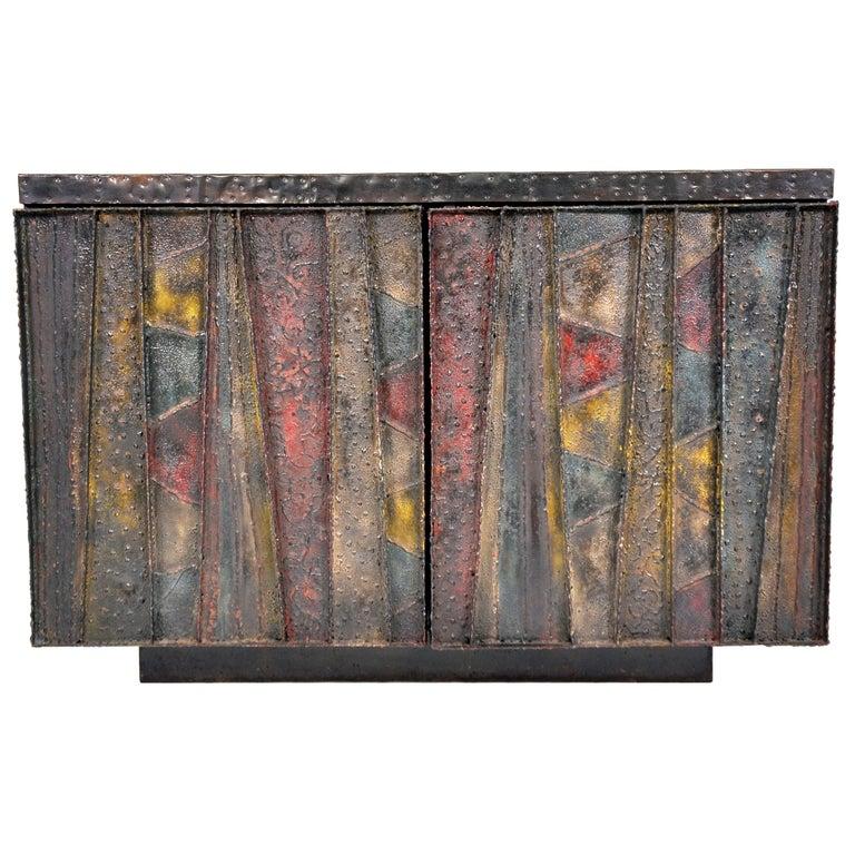 Paul Evans Deep Relief Cabinet For Sale