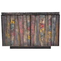 Paul Evans Deep Relief Cabinet