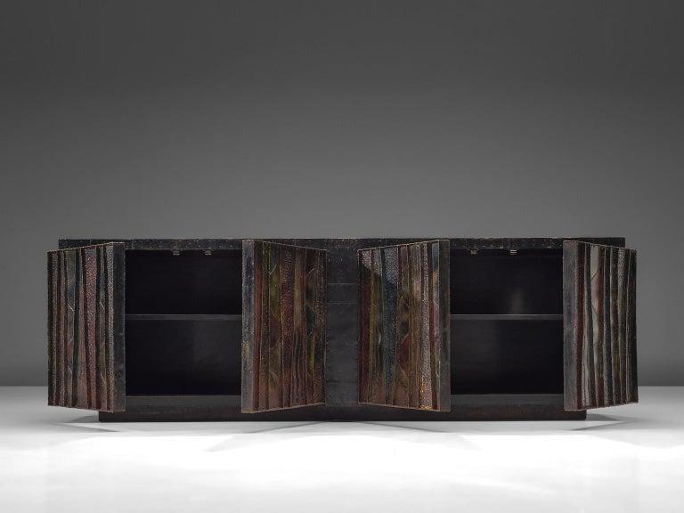 Paul Evans 'Deep Relief' Sideboard in Metal For Sale 6