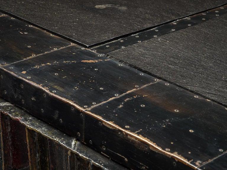 Paul Evans 'Deep Relief' Sideboard in Metal For Sale 3