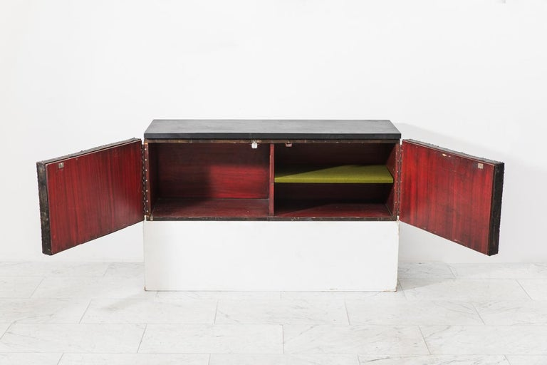 American Paul Evans, Deep Relief Wall-Mounted Console (PE 19), USA, c.1970 For Sale
