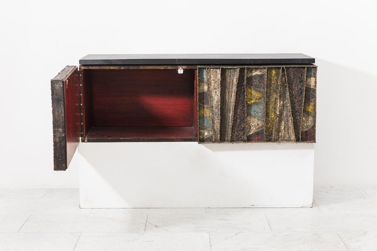 Paul Evans, Deep Relief Wall-Mounted Console (PE 19), USA, c.1970 In Excellent Condition For Sale In New York, NY