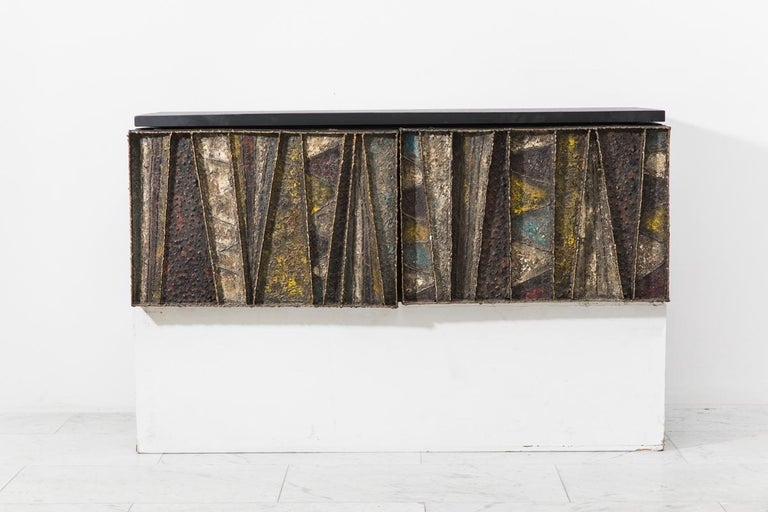 Paul Evans, Deep Relief Wall-Mounted Console (PE 19), USA, c.1970 For Sale 1