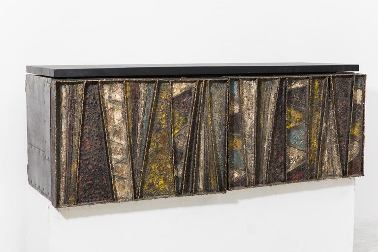 Paul Evans, Deep Relief Wall-Mounted Console (PE 19), USA, c.1970 For Sale
