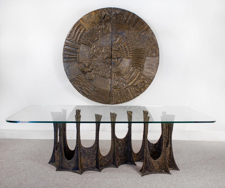 Paul Evans Dining Set in Sculpted Bronze, 1969 For Sale 1