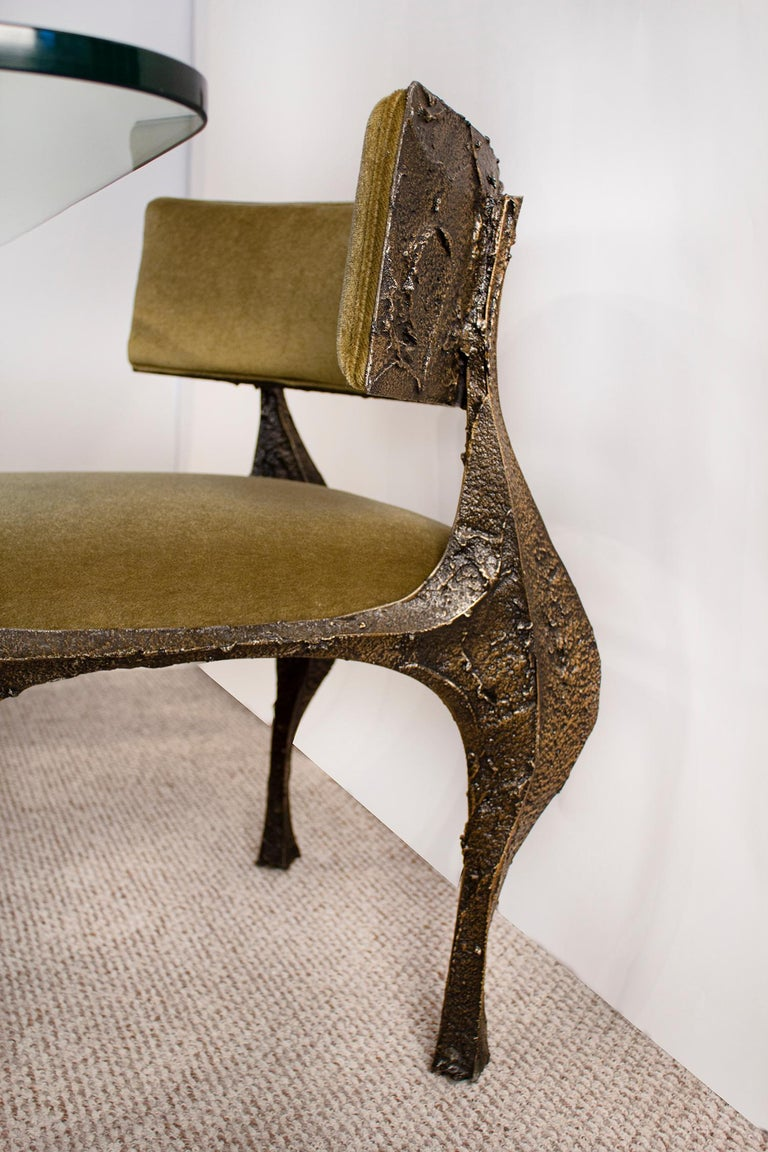 Paul Evans Dining Set in Sculpted Bronze, 1969 For Sale 3