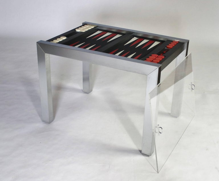 Paul Evans Studio Backgammon Game Table Model P E 742 From The Pe 800 Series For Directional