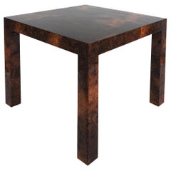 Paul Evans Directional Patchwork Burlwood Side Table