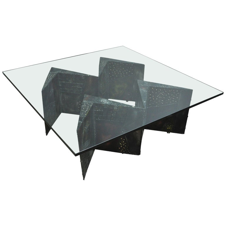 Paul Evans Double Zig Zag Coffee Table For Sale
