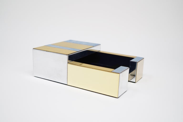 Paul Evans for Directional Brass and Chrome Cityscape Desk Elements, circa 1970s For Sale 10