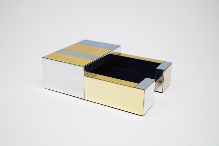 Paul Evans for Directional Brass and Chrome Cityscape Desk Elements, circa 1970s For Sale 2