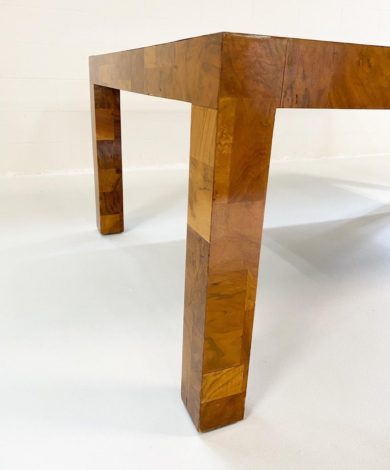 Paul Evans for Directional Cityscape Patchwork Burl Wood Dining Table 4