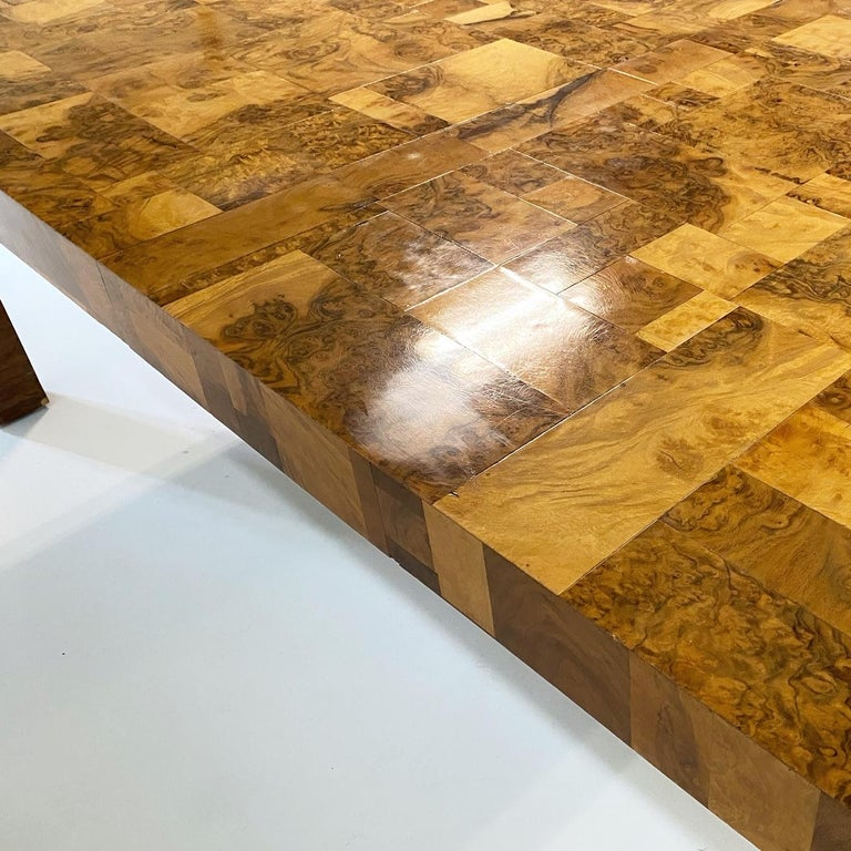 Paul Evans for Directional Cityscape Patchwork Burl Wood Dining Table 1