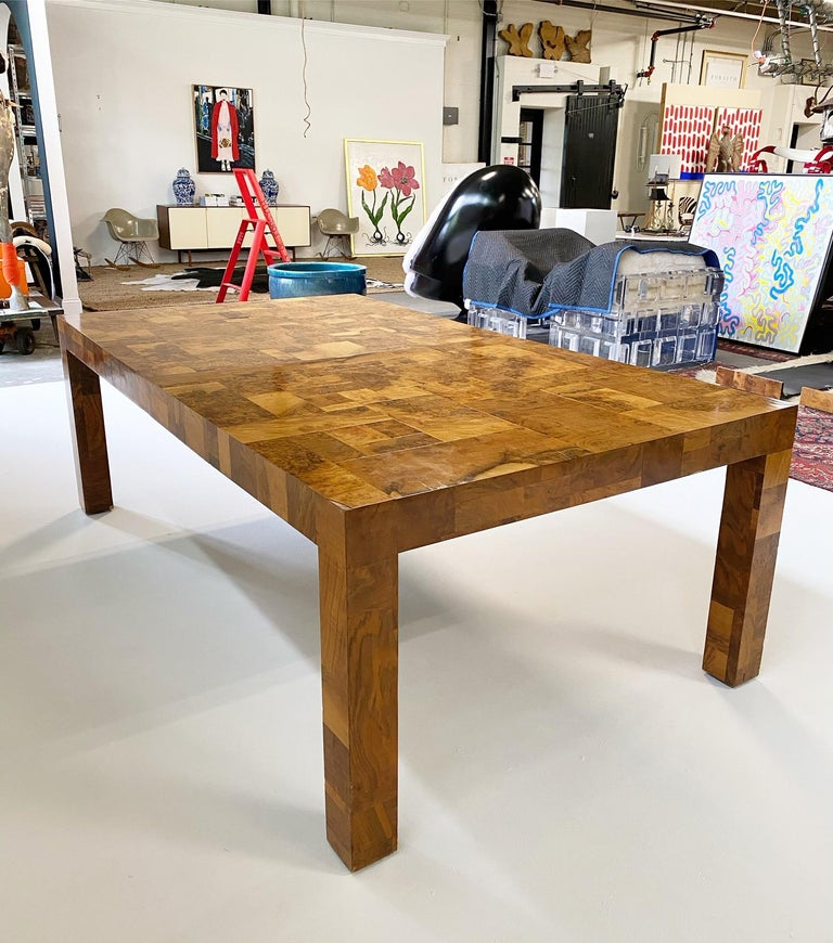 Paul Evans for Directional Cityscape Patchwork Burl Wood Dining Table 2