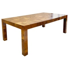 Paul Evans for Directional Cityscape Patchwork Burl Wood Dining Table