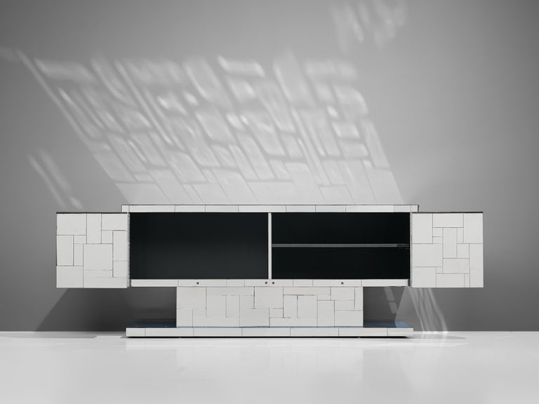 Paul Evans for Directional Cityscape Sideboard in Chrome For Sale 4