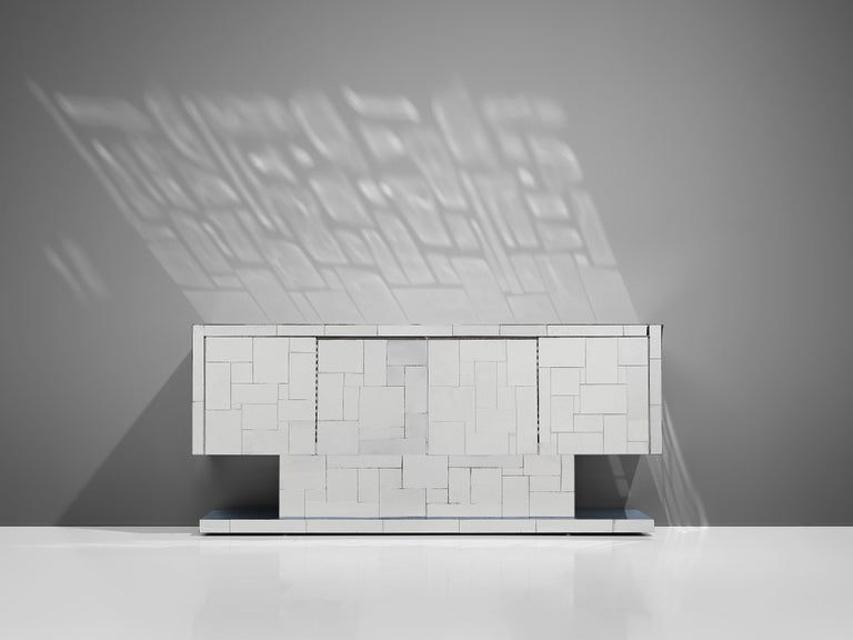 Paul Evans for Directional Cityscape Sideboard in Chrome For Sale 2
