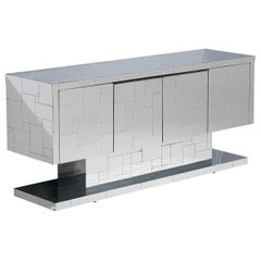 Paul Evans for Directional Cityscape Sideboard in Chrome