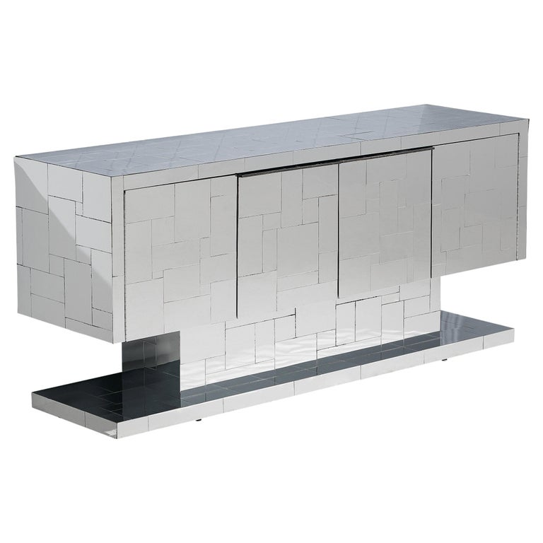 Paul Evans for Directional Cityscape Sideboard in Chrome For Sale
