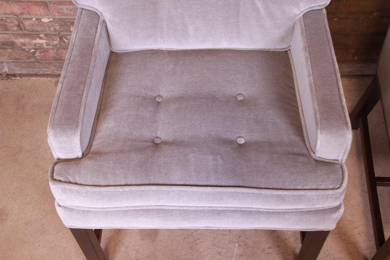Paul Evans for Directional Club Chairs in Velvet, Pair For Sale 5