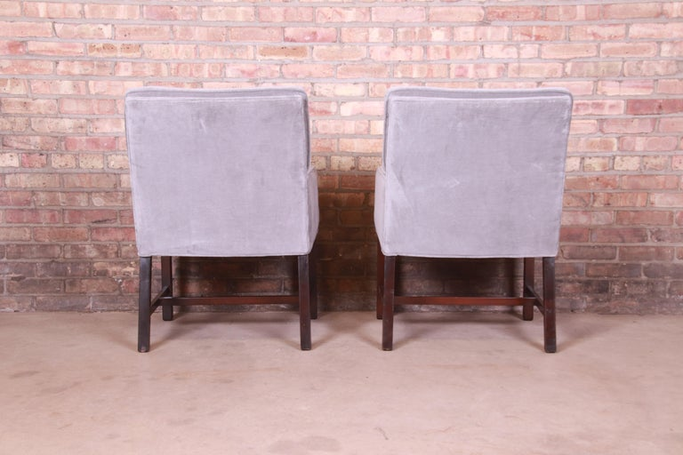Paul Evans for Directional Club Chairs in Velvet, Pair For Sale 3