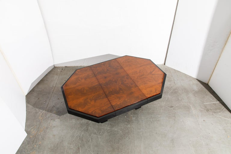 Paul Evans for Directional Expandable African Burl Mahogany Dining Table, c 1980 For Sale 6