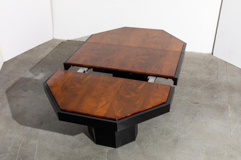 Paul Evans for Directional Expandable African Burl Mahogany Dining Table, c 1980 For Sale 10