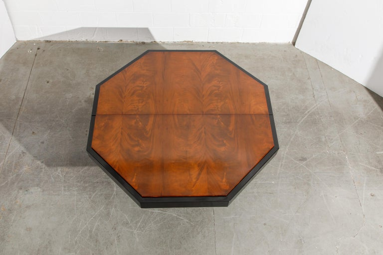 Paul Evans for Directional Expandable African Burl Mahogany Dining Table, c 1980 For Sale 12