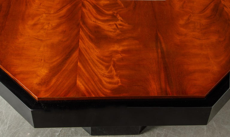 Paul Evans for Directional Expandable African Burl Mahogany Dining Table, c 1980 For Sale 13