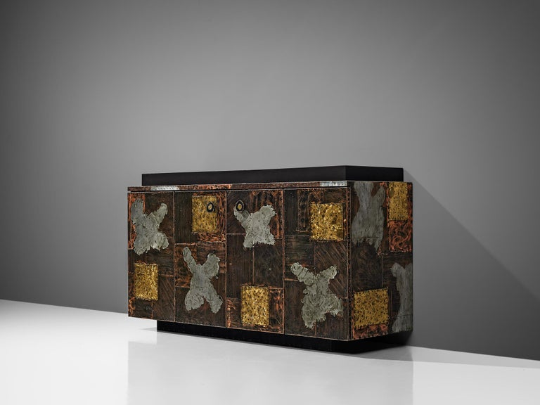 American Paul Evans for Directional 'Patchwork' Sideboard For Sale