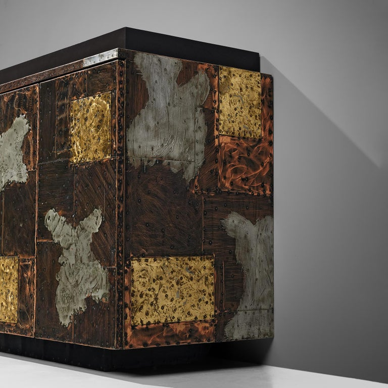 Paul Evans for Directional 'Patchwork' Sideboard In Good Condition For Sale In Waalwijk, NL
