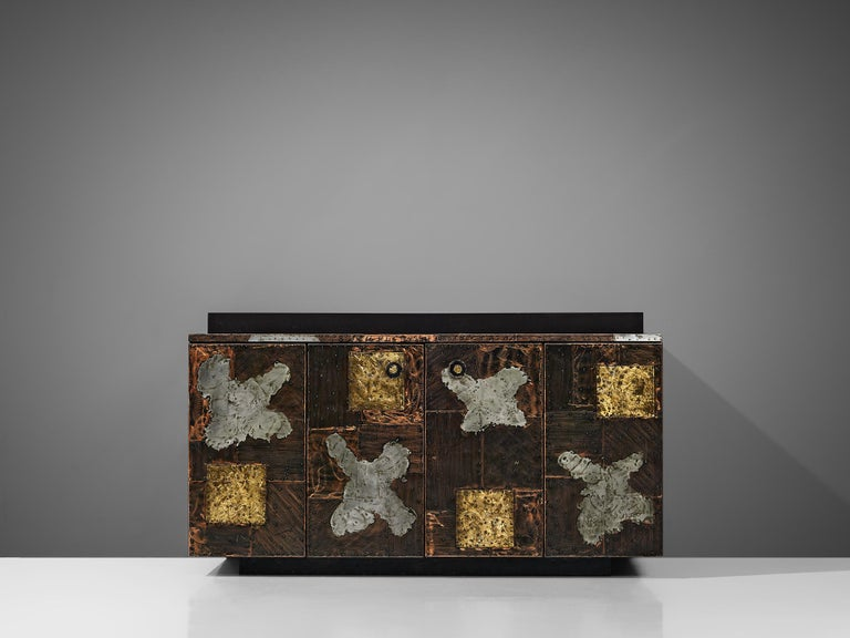 Mid-20th Century Paul Evans for Directional 'Patchwork' Sideboard For Sale